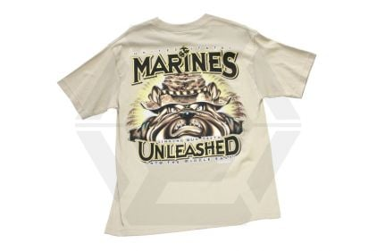 7.62 Design T-Shirt 'Marines Unleashed' (Tan) - Size Medium