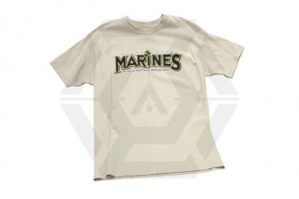 7.62 Design T-Shirt 'Marines Unleashed' (Tan) - Size Medium