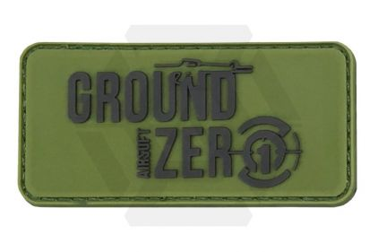 Ground Zero Airsoft PVC Velcro Patch 'Ground Zero Logo' (Olive)