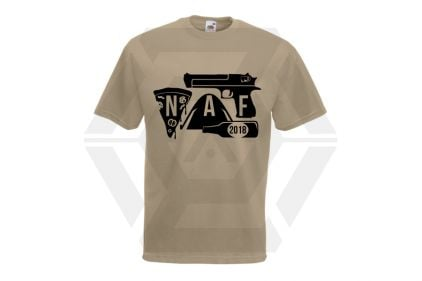 Daft Donkey Special Edition NAF 2018 'Airsoft Festival' T-Shirt (Tan)