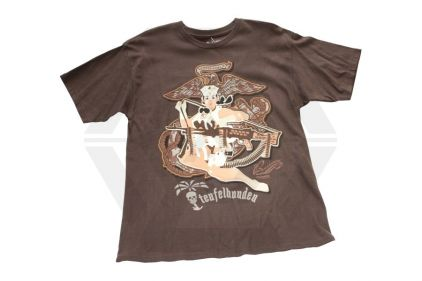 Bawidamann T-Shirt 'Grunt Girl' (Brown) - Size Large