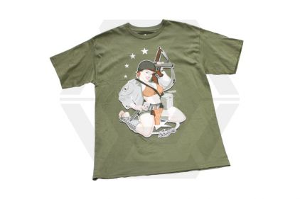 Bawidamann T-Shirt 'D-Day Diva' (Olive) Size Medium