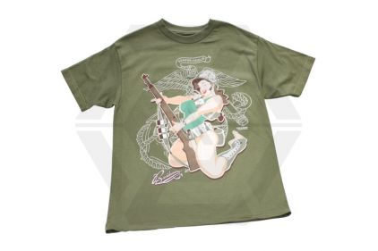 Bawidamann T-Shirt 'Guns Up' (Olive) Size Medium