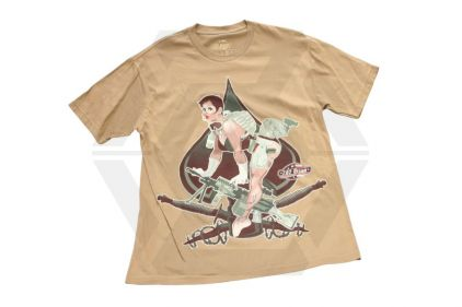 Bawidamann T-Shirt 'Aces High' (Camel) Size Extra Large