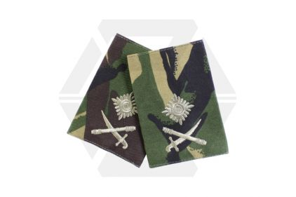 Rank Slide Pair (DPM) - Major General © Copyright Zero One Airsoft