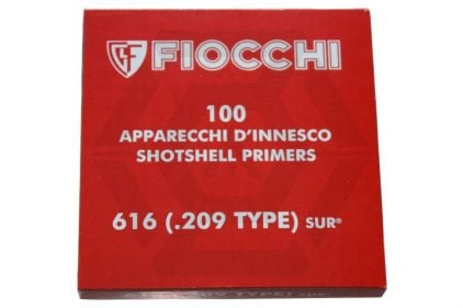 Fiocchi Pack of 100 Blanks .209 Shotgun Primer for Grenades