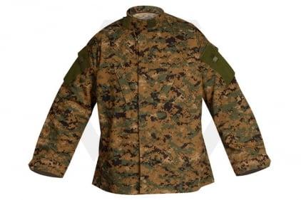 "Tru-Spec Tactical Response Shirt (Digital Woodland) - Size Small 33-37"""