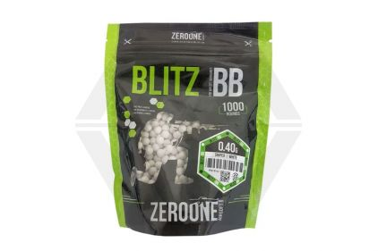 Zero One Blitz Bio BB 0.40g 1000rds (White) © Copyright Zero One Airsoft