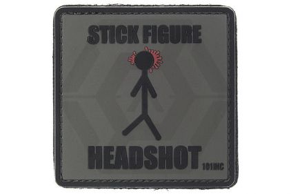 "101 Inc PVC Velcro Patch ""Stick Figure"""