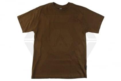 Mil-Com Plain T-Shirt (Olive) - Size Large © Copyright Zero One Airsoft