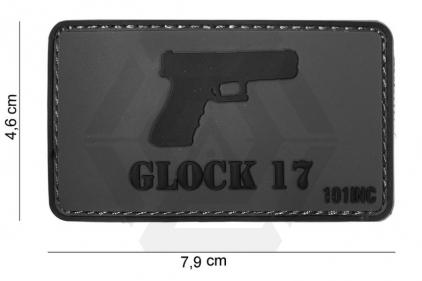 "101 Inc PVC Velcro Patch ""Glock 17"""