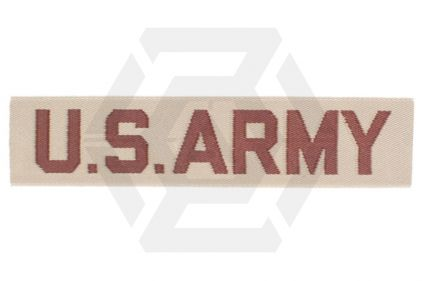 "U.S. Army Name Tape ""U.S. Army"" (Desert) © Copyright Zero One Airsoft"