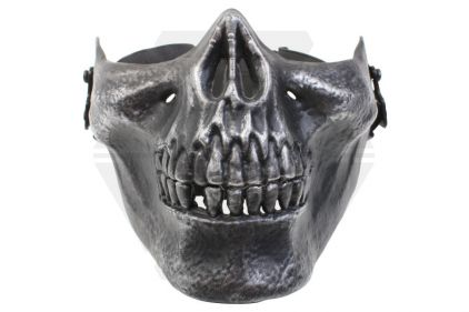 Laylax (Garuda) Skull Face Mask (Black/Silver) © Copyright Zero One Airsoft