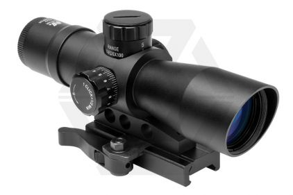 NCS 4x32 Blue/Green Illuminating Quick Release Rifle Scope for RIS Rails
