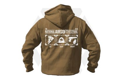 Daft Donkey Special Edition NAF 2018 'Eat, Sleep, Airsoft' Viper Zipped Hoodie (Coyote Tan)