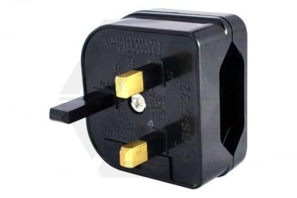 Zero One EU to UK Plug Adaptor with 5A Fuse (Black) © Copyright Zero One Airsoft