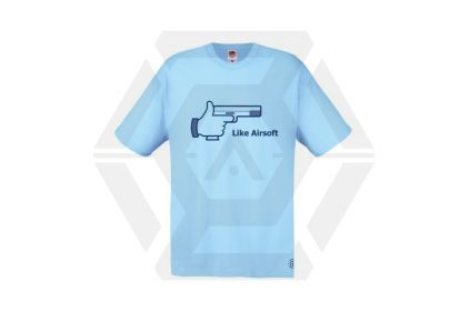 Daft Donkey T-Shirt 'Like Airsoft' (Blue) - Size Small - £9.95