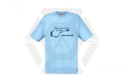 Daft Donkey T-Shirt 'Like Airsoft' (Blue) - Size Small - £9.95