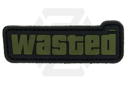 "VOS PVC Velcro Patch ""Wasted"" (Olive)"
