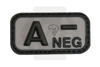 Viper Velcro PVC Blood Group Patch A- (Black) © Copyright Zero One Airsoft