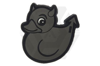 "101 Inc PVC Velcro Patch ""Devil Duck"" (Grey)"