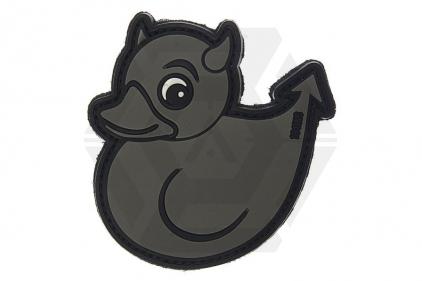 """101 Inc PVC Velcro Patch """"Devil Duck"""" (Grey)"""