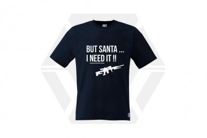 Daft Donkey Christmas T-Shirt 'Santa I NEED It Sniper' (Dark Navy) - Size Extra Large © Copyright Zero One Airsoft