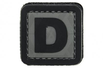 """VOS PVC Velcro Patch """"D"""""""