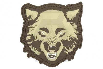 "101 Inc PVC Velcro Patch ""Wolf"" (Tan)"