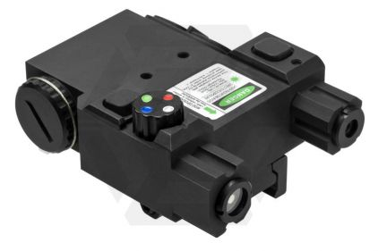 NCS Navigation Unit with Green Laser, 4 Colour LED & QR Mount (Black)