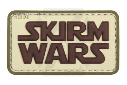 "101 Inc PVC Velcro Patch ""Skirm Wars"" (Brown)"