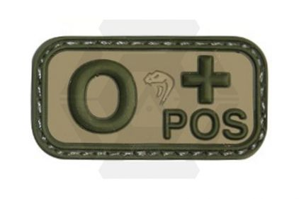 Viper Velcro PVC Blood Group Patch O+ (MultiCam)