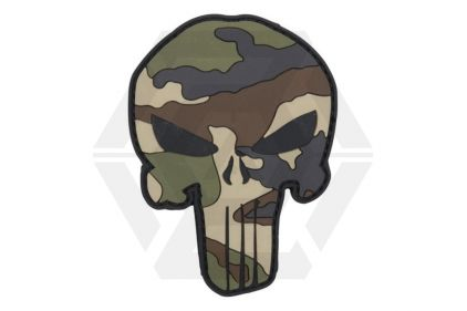 "101 Inc PVC Velcro Patch ""Punisher"" (Camo) © Copyright Zero One Airsoft"
