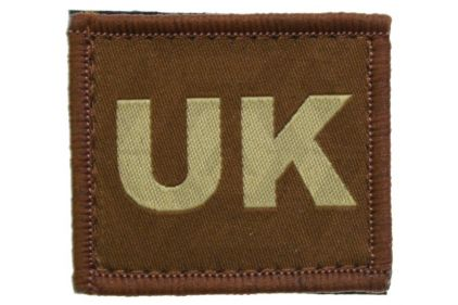 Vanguard Velcro UK Patch (Tan) © Copyright Zero One Airsoft