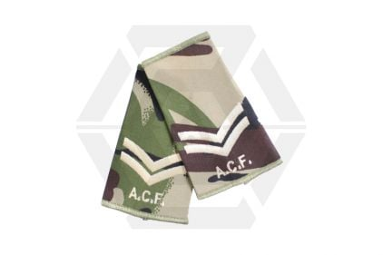 Rank Slide Pair (DPM) - Cpl ACF © Copyright Zero One Airsoft