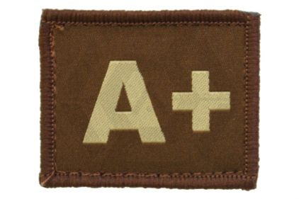 Vanguard Velcro Blood Group Patch A+ (Tan)
