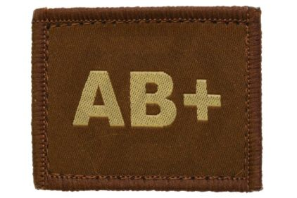 Vanguard Velcro Blood Group Patch AB+ (Tan)