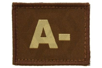 Vanguard Velcro Blood Group Patch A- (Tan)