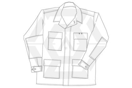 "Tru-Spec U.S. BDU Rip-Stop Shirt (Tiger Stripe) - Chest M 37-41"""