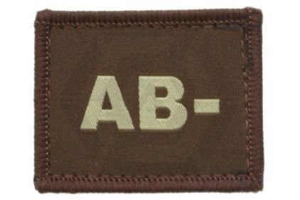 Vanguard Velcro Blood Group Patch AB- (Tan)