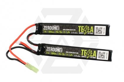 Zero One Tesla Battery 7.4v 1300mAh 15C LiPo (Nunchuck) © Copyright Zero One Airsoft