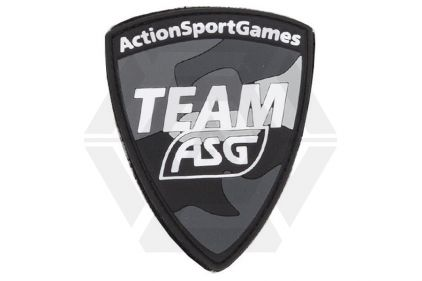 "ASG Velcro PVC Patch ""Team ASG"" (Black)"