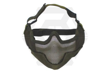 MFH Large Half Face Mesh Mask (Olive) © Copyright Zero One Airsoft