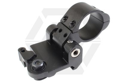 101 Inc Flip-to-Side Mount with QD (Black)