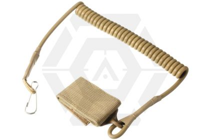 101 Inc Deluxe Pistol Lanyard (Tan) © Copyright Zero One Airsoft