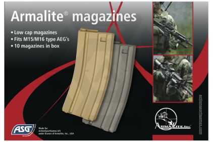 ASG AEG Mag for M4 20rds VN Box Set of 10 (Tan)