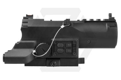 NCS 4x34 Blue Illuminating ECO Scope with Integrated Green Laser, Red/White Navigation Light & QR Mount