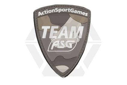 """ASG Velcro PVC Patch """"Team ASG"""" (Tan)"""
