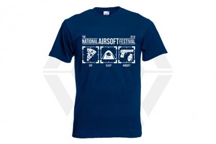 Daft Donkey Special Edition NAF 2018 'Eat, Sleep, Airsoft' T-Shirt (Navy)