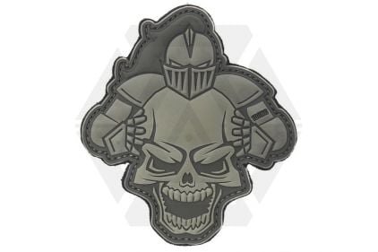 "101 Inc PVC Velcro Patch ""Knight"" (Grey)"